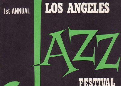 1st Annual Los Angeles  Jazz Festival program