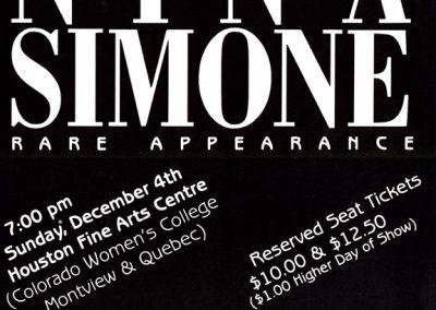 A Special Nina Simone Rare Appearance.Classic Artist