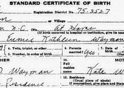 Eunice Waymon Birth Certificate